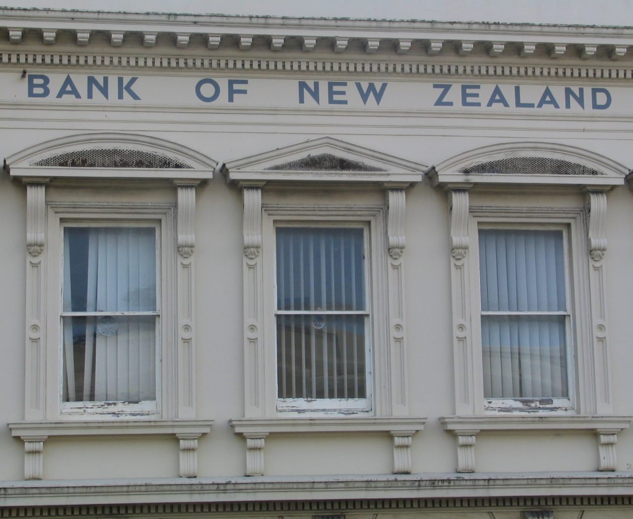 Bank of New Zealand building Port Chalmers windows